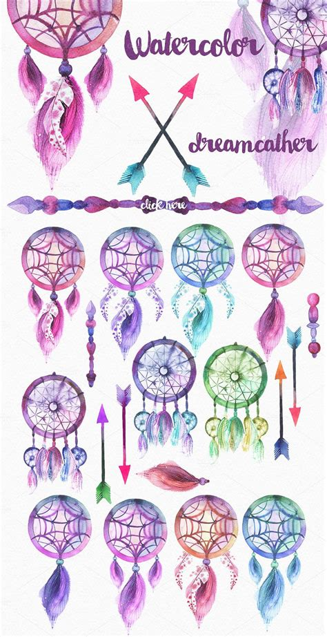 dreamcatcher watercolor tattoo best 25 watercolor dreamcatcher ideas on