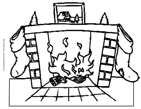 coloring pages of christmas fireplace christmas fireplace coloring pages