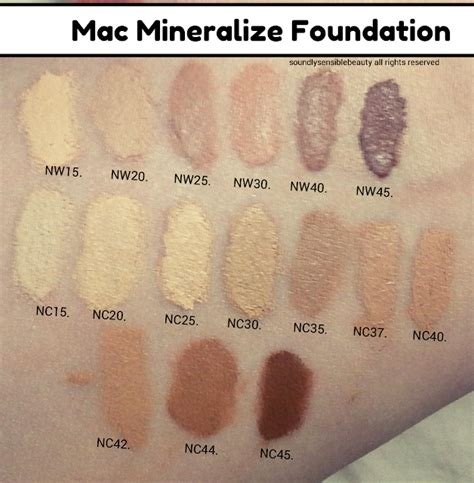 Mac Mineralize Foundation mac mineralize foundation review swatches shades
