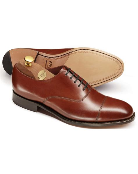 Brown Oxford Leather Shoes brown heathcote calf leather toe cap oxford shoes