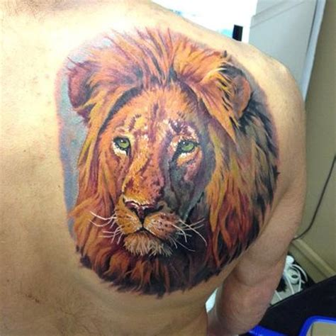 colorful lion tattoo colorful