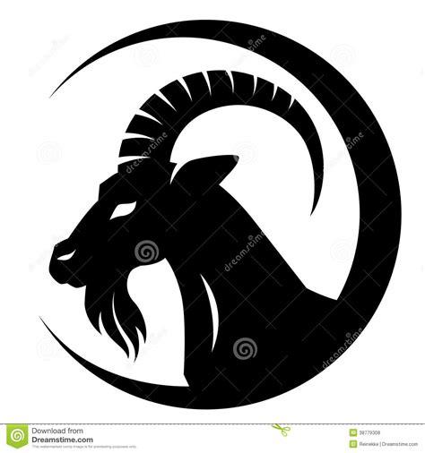 Headl New Vios Black Original black goat stock vector image of year black