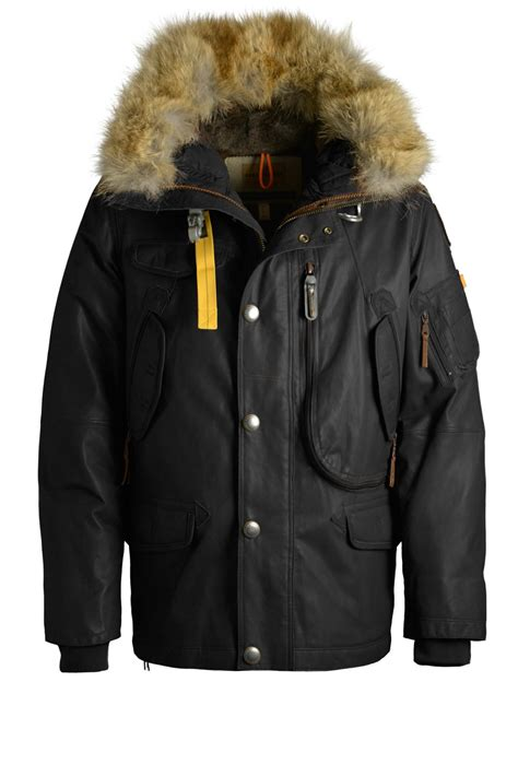 Parka Black B G S R List Brown Premium right leather official site of parajumpers