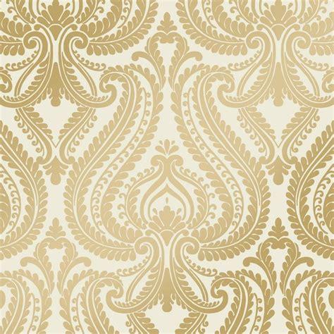 love wallpaper shimmer damask metalic wallpaper cream
