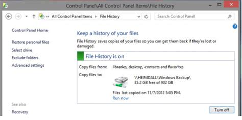 App History Not Working File History Not Working In Windows 10 8 1 8 Fix