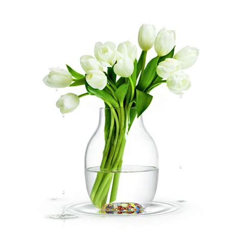Flowers Glass Vase by Mille Fiori Vase A Thousand Flowers Decor