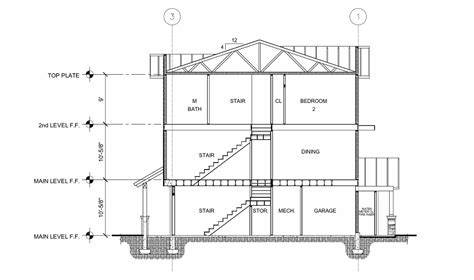 section cut site floor plans