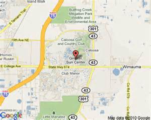 Sun City Florida Map by Sun City Center Florida Tampa Area Travel