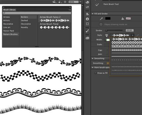 pattern brush options using paint brush in animate cc