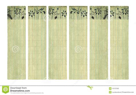 How To Make Bamboo Paper - ink flower print on bamboo paper banner set stock photos