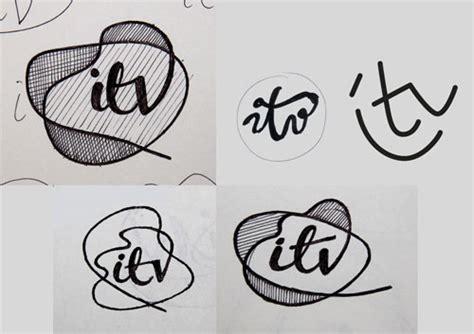 the sketchbook logo itv logo creation by rudd studio logo design