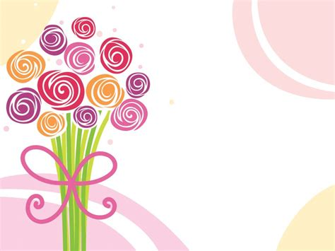 download flower bouquet powerpoint background is ready to