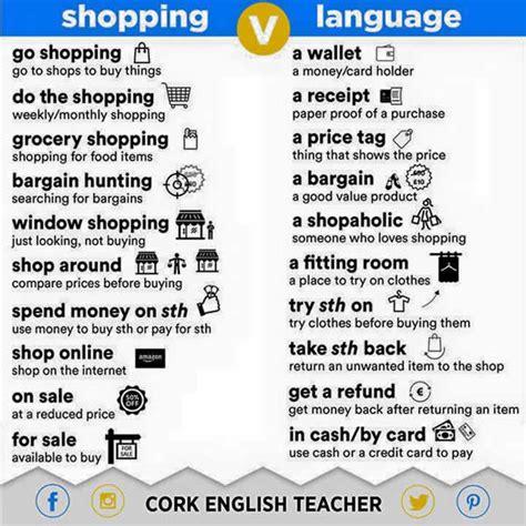 grammar for english language english shopping language shopping words
