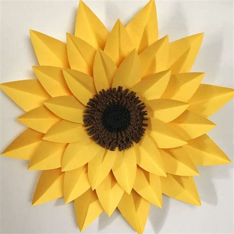 How To Make Sunflower From Paper - the 25 best paper sunflowers ideas on big