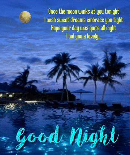 I Bid You A Lovely Good Night. Free Good Night eCards