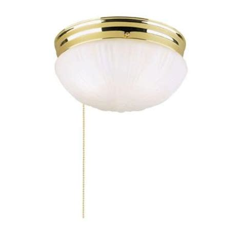 Pull Chain Ceiling Light Fixture Westinghouse 2 Light Ceiling Fixture Polished Brass Interior Flush Mount With Pull Chain And