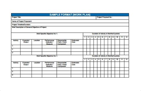 financial plan template  word excel  documents