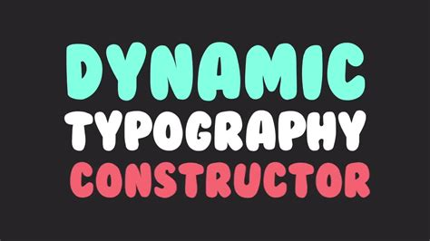 dynamic typography tutorial after effects dynamic typography constructor after effects templates