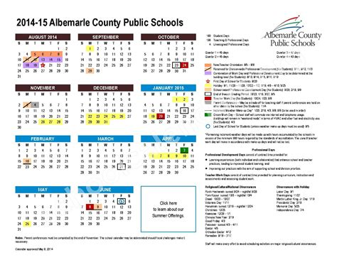 Albemarle County Schools Calendar Stony Point Elementary School Calendars Keswick Va