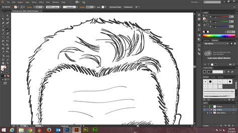 adobe illustrator line pattern how to create digital art and marker style portrait with