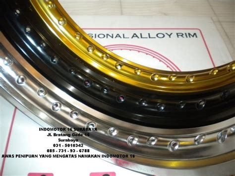 Velg Ch Black Ukuran 215 Dan 300 Ring 17 Set velg aluminium tk japan indomotor 16 shop