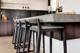 Kitchen Island With Bar Stools by Simple And Sleek Bar Stools For The Modern Kitchen Island