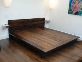 Wood Platform Bed Frame Design Furniture Flat Size Reclaimed Wood Platform Bed