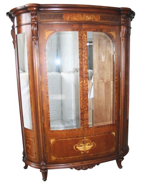 golden oak burl glass door curio cabinet ebay
