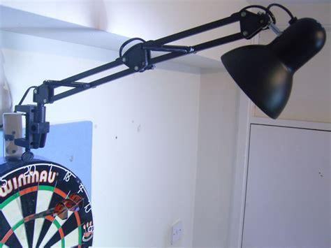 clip on dartboard light pro dart board spot light kit set up fast fix bracket
