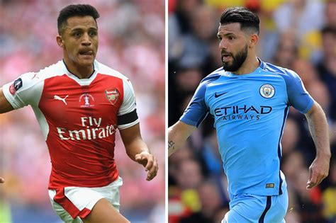 alexis sanchez vs sergio aguero arsenal transfer news alexis sanchez may be swapped with