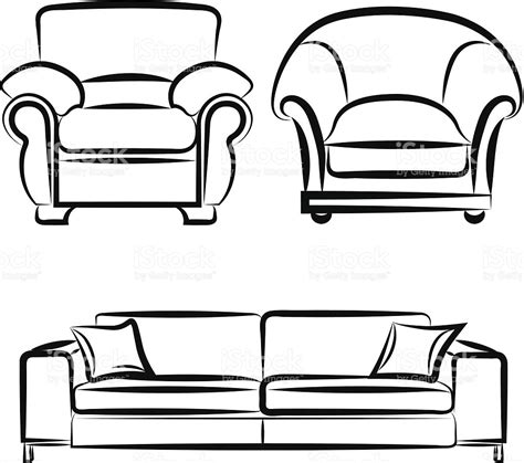 sofa drawing vector drawing on the sofa stock vector 452196857 istock