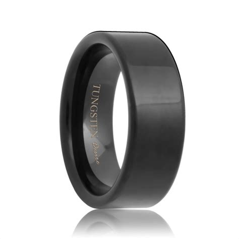 Black Tungsten Rings & Black Tungsten Wedding Bands