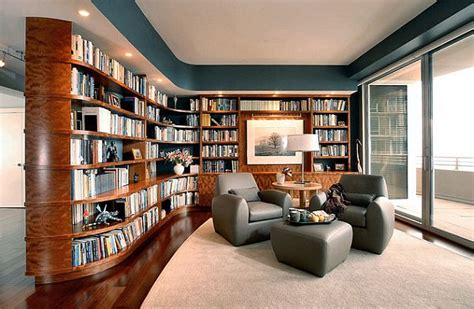 ultra modern home library design decoist