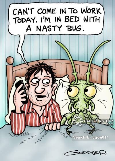 Sick In Bed Meme - flu bug cartoons and comics funny pictures from cartoonstock