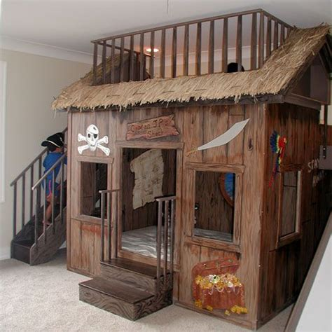 clubhouse bunk bed cool playhouse play house pinterest