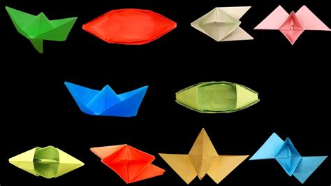 How To Make Different Types Of Paper Boats - how to make a paper boat that floats origami top 10