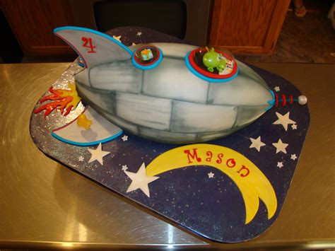 Outer Space Decorations Rocket Ship Cakes Decoration Ideas Little Birthday Cakes