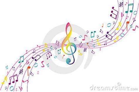 imagenes notas musicales de colores fondo del musical del color foto de archivo libre de