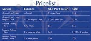 Personal Training Price List Template Personal Training Goal Sheet Submited Images Pic2fly