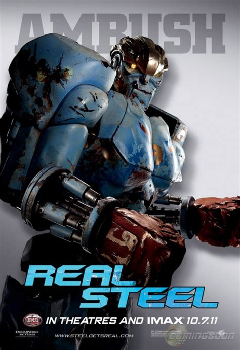 film robot real steel clip and posters of real steel teaser trailer