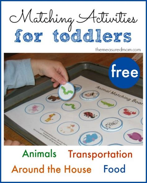 printable toddler activities free printable free matching activities for toddlers the
