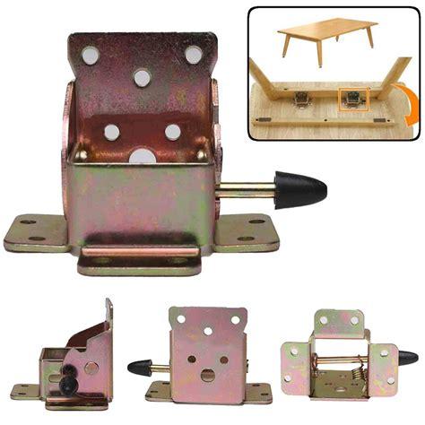 folding table hinge bracket 4pcs iron locking folding table chair leg brackets hinges
