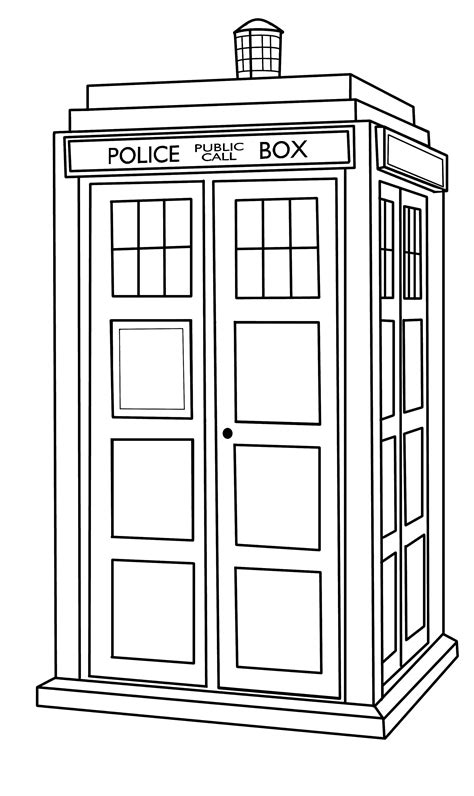 Tardis Outline By Callmepin On Deviantart Tardis Coloring Page