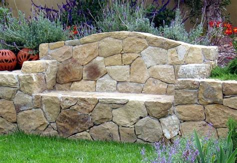 rock bench stone bench outdoor ideas pinterest