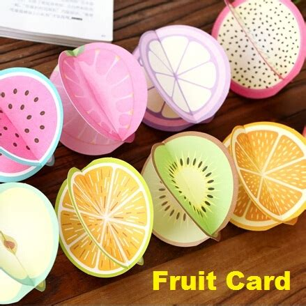 Sweet Global Gift Card - aliexpress com buy creative sweet 3d fruit design greeting card set with envelope