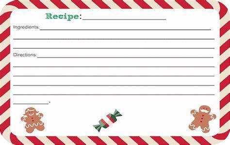 printable holiday recipes 12 free christmas printables