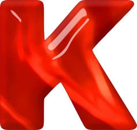 Presentation Alphabets: Red Glass Letter K
