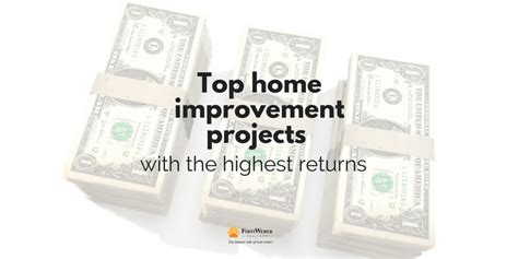 top home improvement projects with highest roi