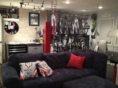 mountain bike themed man cave bicycleskitool shed