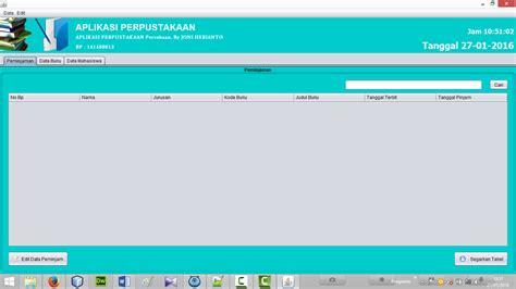 Kumpulan Tutorial Java Netbeans | java netbeans tutorial pembuatan aplikasi perpustakaan